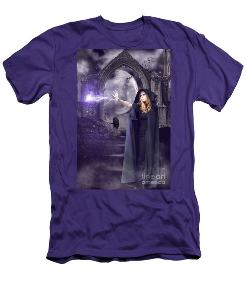 The Spell Is Cast Men's T-Shirt (Slim Fit) by Linda Lees