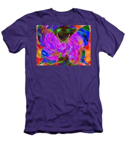 Tie-dye Butterfly Men's T-Shirt (Slim Fit) by Elizabeth McTaggart