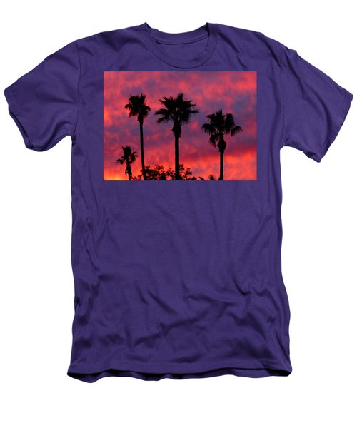 Tropical Sunset Men's T-Shirt (Slim Fit) by Laurel Powell