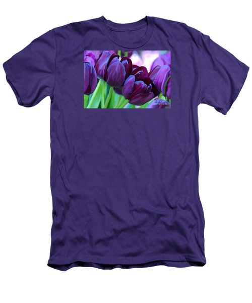 Tulips-dark-purple Men's T-Shirt (Slim Fit)