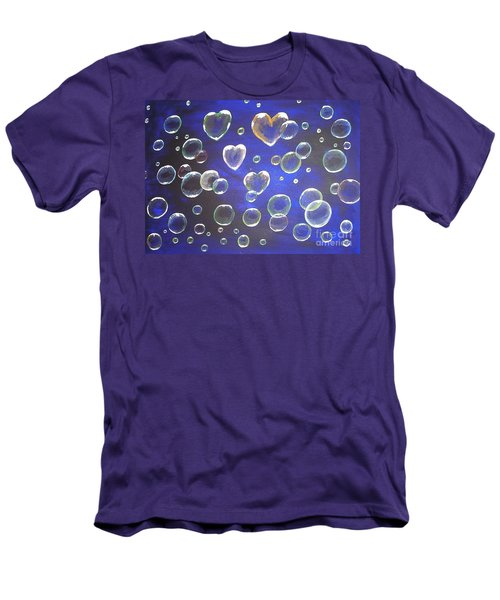 Valentine Bubbles Men's T-Shirt (Athletic Fit)