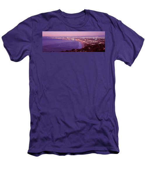 View Of Los Angeles Downtown Men's T-Shirt (Slim Fit) by Panoramic Images