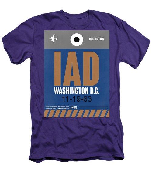 Washington D.c. Airport Poster 4 Men's T-Shirt (Slim Fit) by Naxart Studio