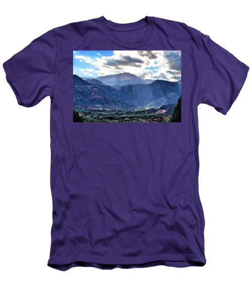 Men's T-Shirt (Slim Fit) featuring the photograph Westside Colorado Springs by Clarice  Lakota
