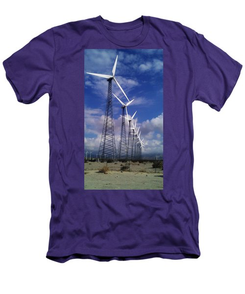 Men's T-Shirt (Slim Fit) featuring the photograph Windmills by Chris Tarpening