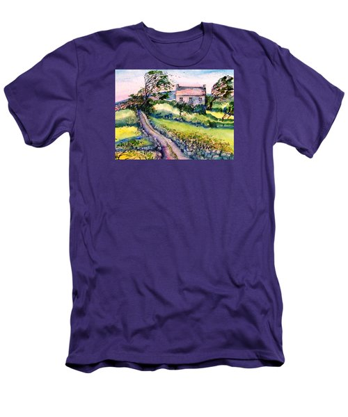 Windy Day Clear Island  Men's T-Shirt (Slim Fit) by Trudi Doyle