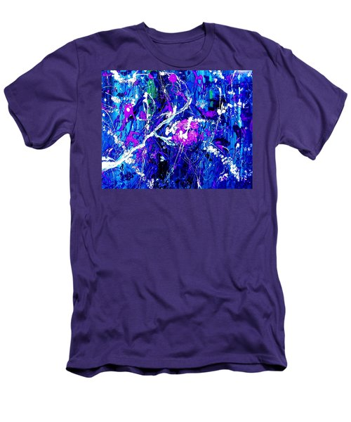 Cherry Blossom Explosion Men's T-Shirt (Athletic Fit)