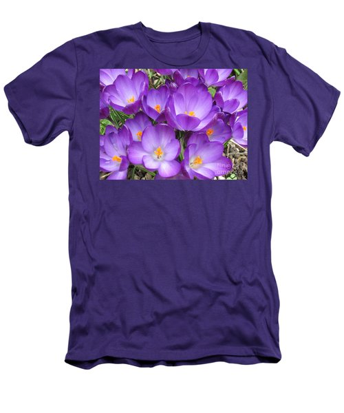 Men's T-Shirt (Slim Fit) featuring the photograph Crocus by Laurianna Taylor