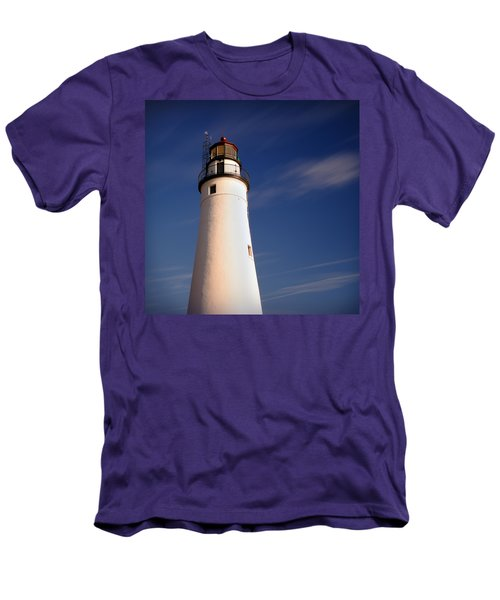 Men's T-Shirt (Slim Fit) featuring the photograph Fort Gratiot Lighthouse by Gordon Dean II
