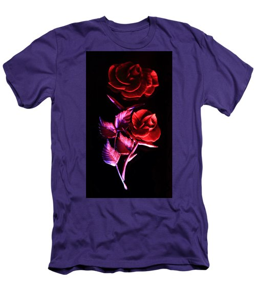 Glowing Glass Rose Men's T-Shirt (Athletic Fit)