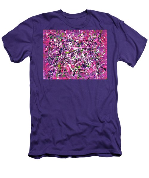 Lavender Fields Forever Men's T-Shirt (Slim Fit)