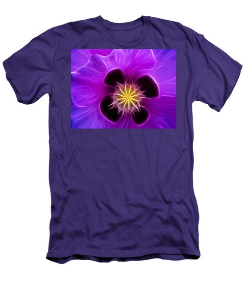 Lilac Poppy Men's T-Shirt (Athletic Fit)