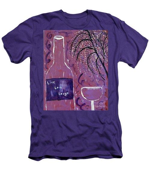 Live Love Laugh Wine Men's T-Shirt (Athletic Fit)