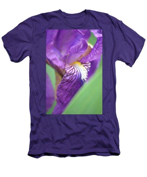Men's T-Shirt (Slim Fit) featuring the photograph Purple Iris by JD Grimes