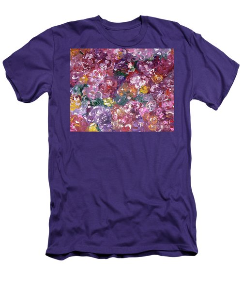 Men's T-Shirt (Slim Fit) featuring the painting Rose Festival by Alys Caviness-Gober