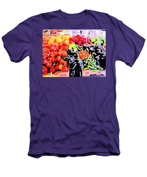 Men's T-Shirt (Slim Fit) featuring the photograph Vegetables On Display by Kym Backland