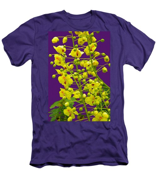 Yellow Flower Men's T-Shirt (Slim Fit) by Manuela Constantin