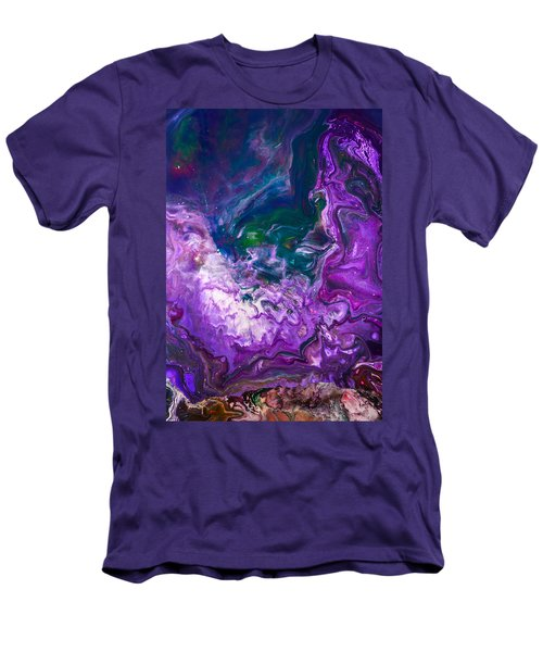 Zeus - Abstract Colorful Mixed Media Painting Men's T-Shirt (Slim Fit) by Modern Art Prints
