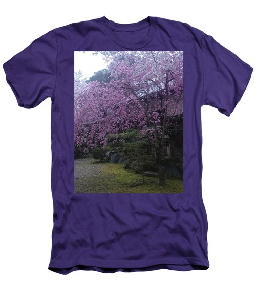 Shidarezakura Mean A Drooping Cherry Tree  Men's T-Shirt (Athletic Fit)