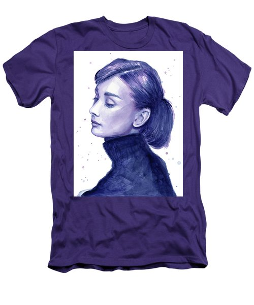 Audrey Hepburn Portrait Men's T-Shirt (Slim Fit) by Olga Shvartsur