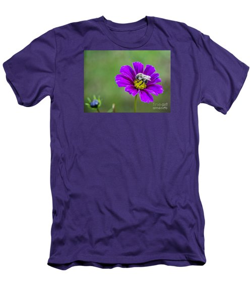 Men's T-Shirt (Slim Fit) featuring the photograph Bee by Alana Ranney