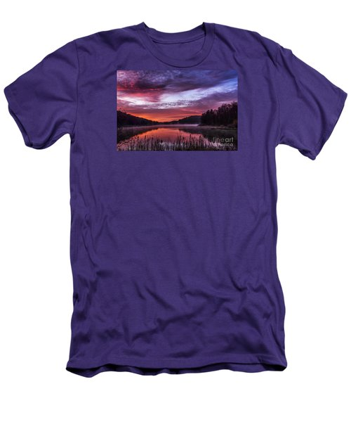 First Light On The Lake Men's T-Shirt (Slim Fit) by Thomas R Fletcher