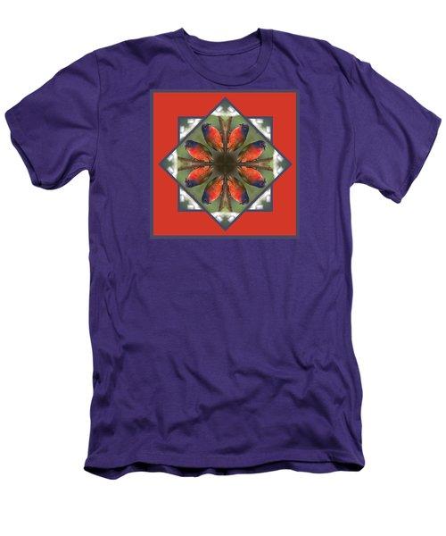 Painted Bunting Men's T-Shirt (Slim Fit) by Rhoda Gerig