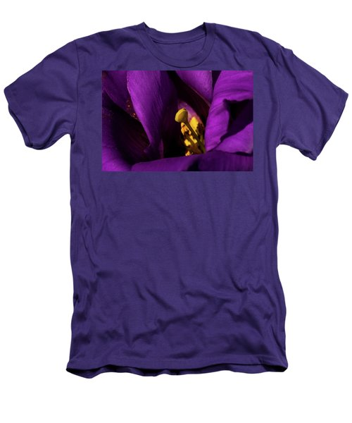 Men's T-Shirt (Slim Fit) featuring the photograph Purple And Yellow by Jay Stockhaus