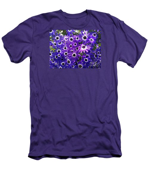 Men's T-Shirt (Slim Fit) featuring the photograph Purple Bunch by Haleh Mahbod