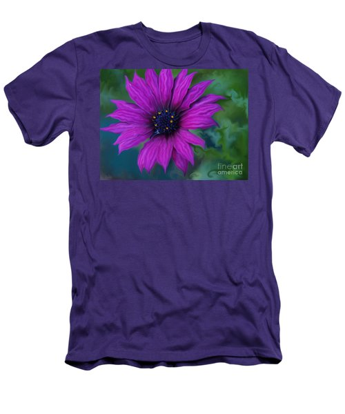 Men's T-Shirt (Slim Fit) featuring the photograph Purple by Trena Mara