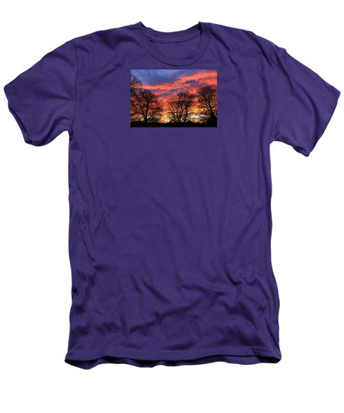 Men's T-Shirt (Athletic Fit) featuring the photograph Sunset And Filigree by Nareeta Martin