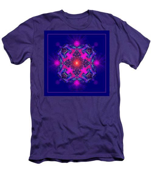 1028 -  A Mandala Purple And Pink 2017 Men's T-Shirt (Athletic Fit)