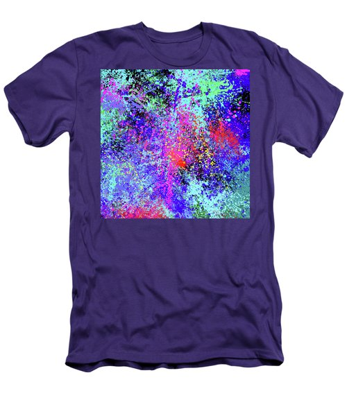 Men's T-Shirt (Slim Fit) featuring the painting Abstract Composition by Samiran Sarkar