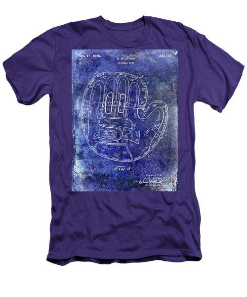 1925 Baseball Glove Patent Blue Men's T-Shirt (Athletic Fit)