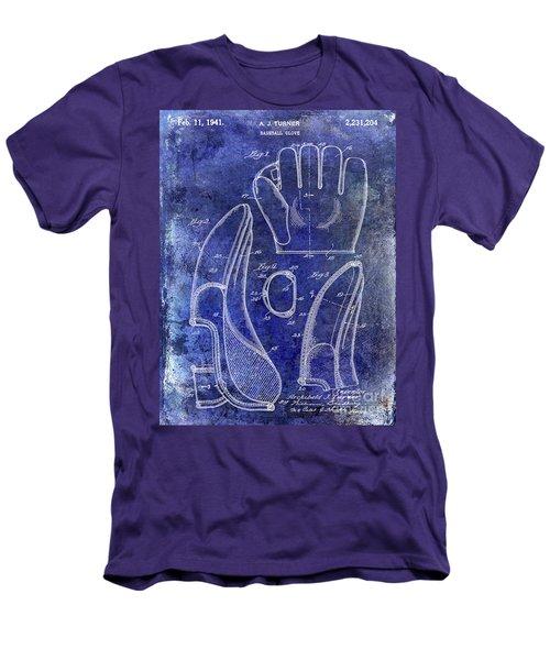 1941 Baseball Glove Patent Blue Men's T-Shirt (Athletic Fit)