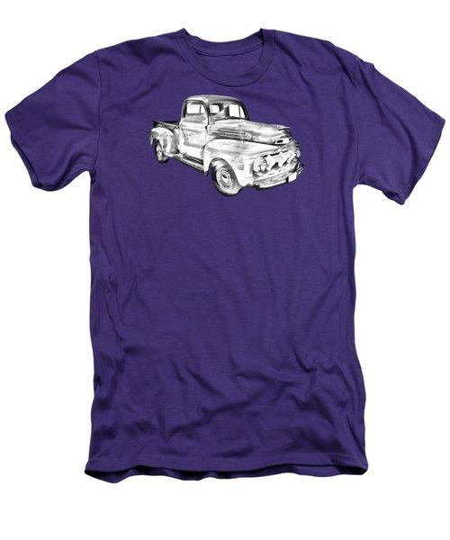 1951 Ford F-1 Pickup Truck Illustration  Men's T-Shirt (Slim Fit) by Keith Webber Jr