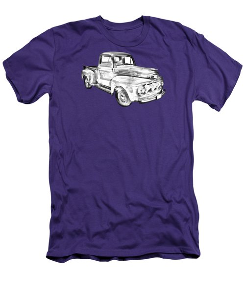 1951 Ford F-1 Pickup Truck Illustration  Men's T-Shirt (Athletic Fit)