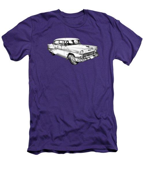 1955 Chevrolet Bel Air Illustration Men's T-Shirt (Athletic Fit)