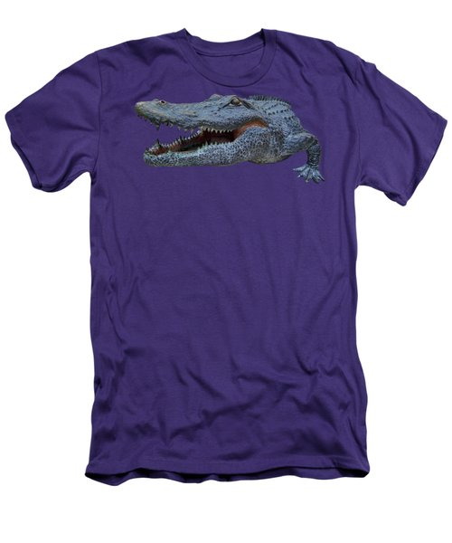 1998 Bull Gator Up Close Transparent For Customization Men's T-Shirt (Slim Fit) by D Hackett