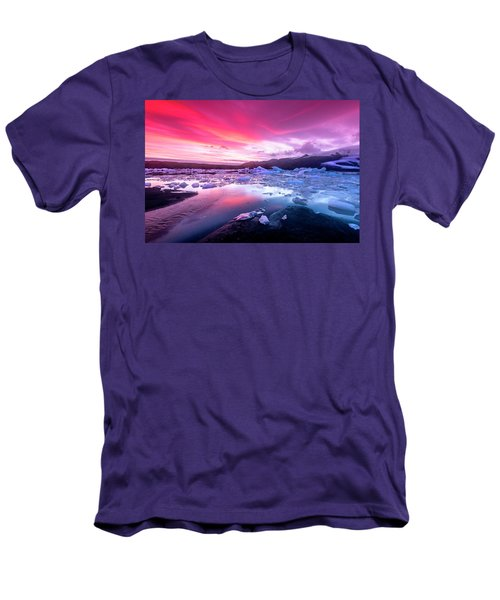 Icebergs In Jokulsarlon Glacial Lagoon Men's T-Shirt (Athletic Fit)