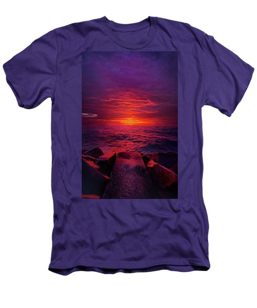 Men's T-Shirt (Slim Fit) featuring the photograph The Path by Phil Koch