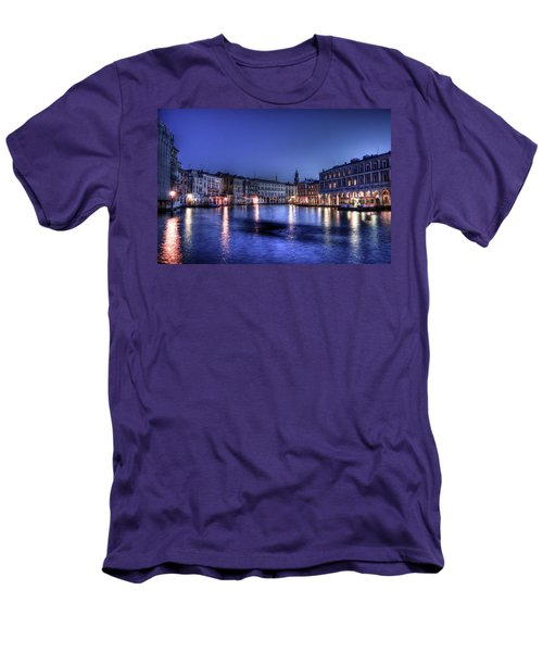 Venice By Night Men's T-Shirt (Athletic Fit)