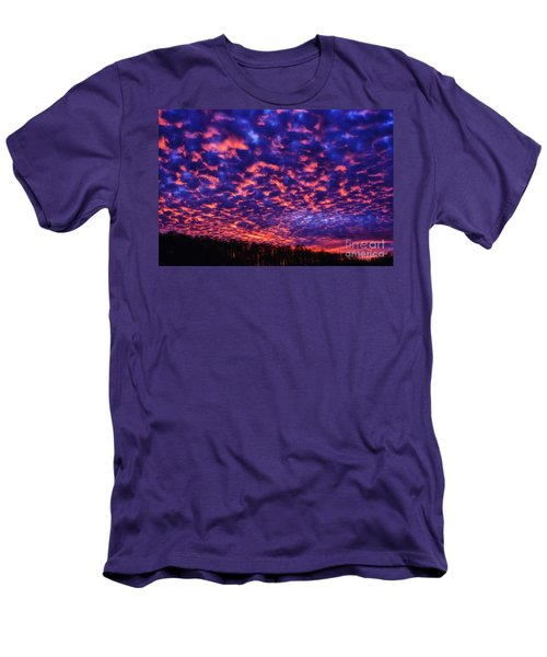 Men's T-Shirt (Slim Fit) featuring the photograph Appalachian Sunset Afterglow by Thomas R Fletcher