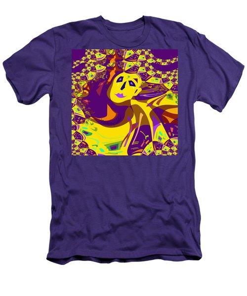 874 - Mellow Yellow Clown Lady - 2017 Men's T-Shirt (Athletic Fit)