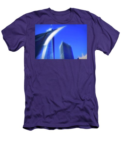 A Glimpse Of The Oculus - New York's Financial District Men's T-Shirt (Athletic Fit)