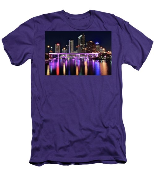 A Tampa Night Men's T-Shirt (Slim Fit) by Frozen in Time Fine Art Photography