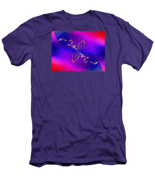 Men's T-Shirt (Slim Fit) featuring the digital art Abstract Cubed 350 by Tim Allen