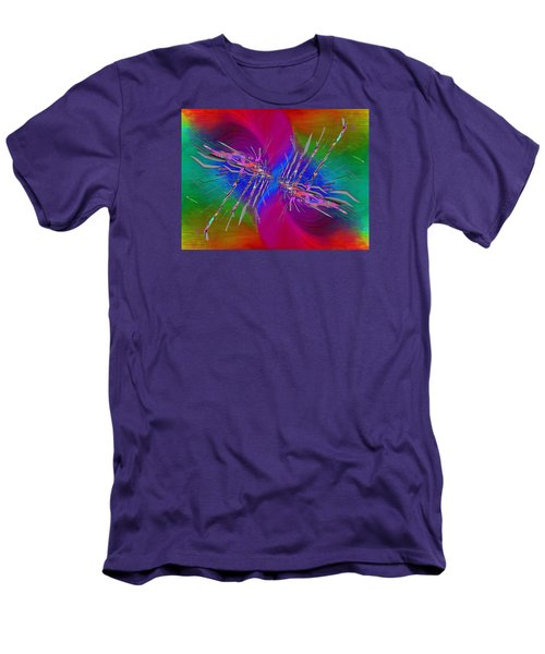 Men's T-Shirt (Slim Fit) featuring the digital art Abstract Cubed 353 by Tim Allen