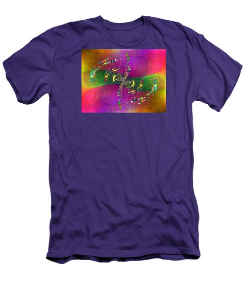 Men's T-Shirt (Slim Fit) featuring the digital art Abstract Cubed 357 by Tim Allen