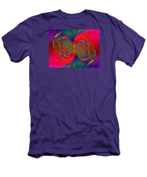 Men's T-Shirt (Slim Fit) featuring the digital art Abstract Cubed 366 by Tim Allen